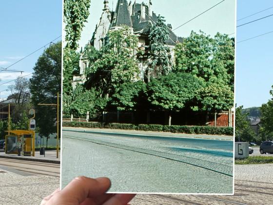 Wo stand die Villa Bruhm?
