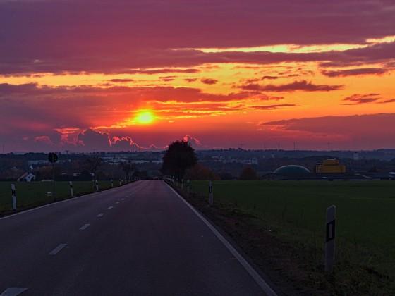 ...einfach rein in den Sonnenuntergang