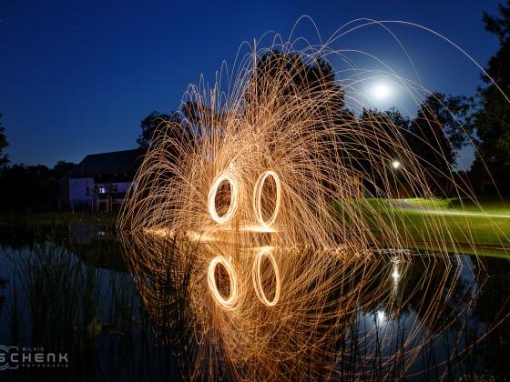 Lightpainting Stahlwolle Kauern