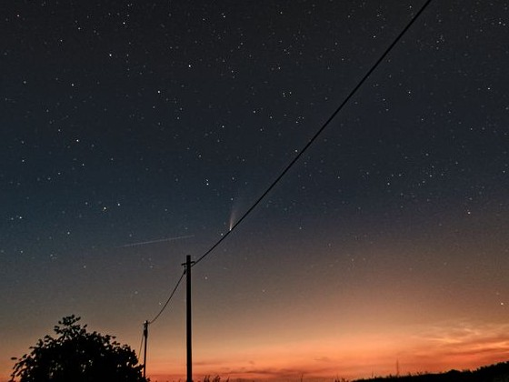 Komet Neowise über Gera