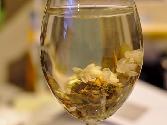 Das ist bzw. war meine erste Teeblume