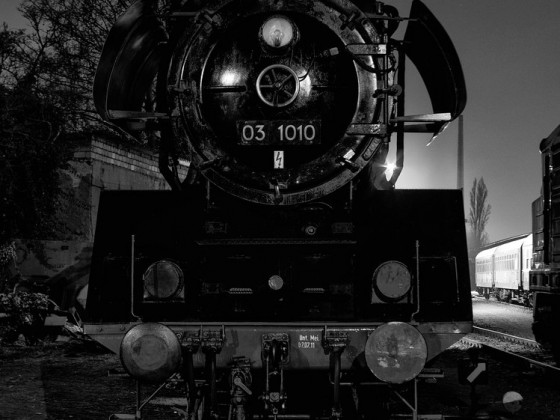 Deutsche Reichsbahn 03 1010 zum Nachtlager im EMBB
