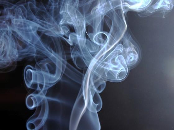 Der Dampf meiner letzten Zigarette