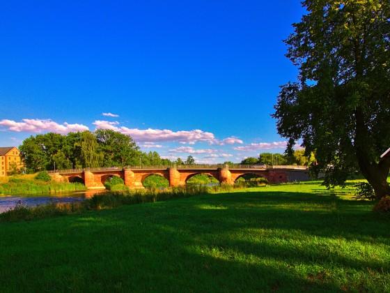 Die Muldenbrücke in Wechselburg