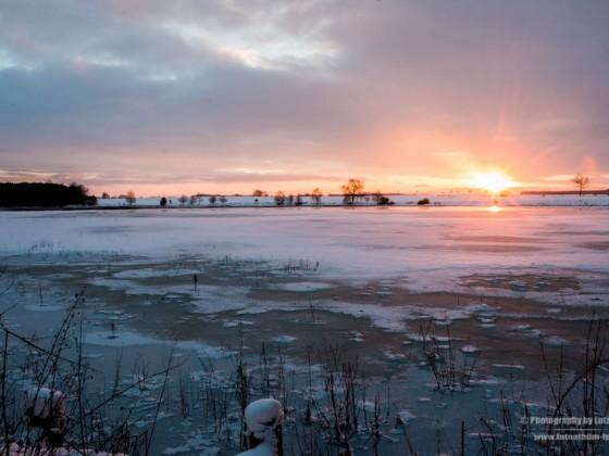 Sonnenaufgang an den Plothener Teichen