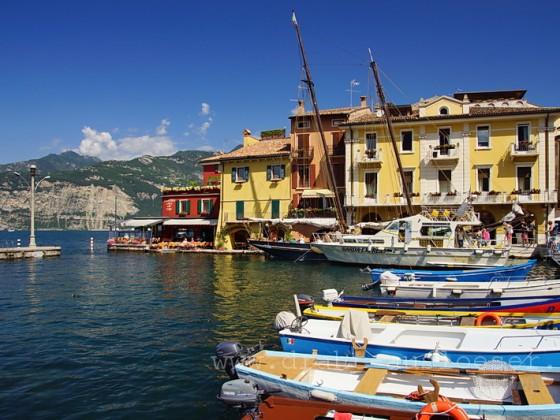 Hafen von Malcesine am Gardasee